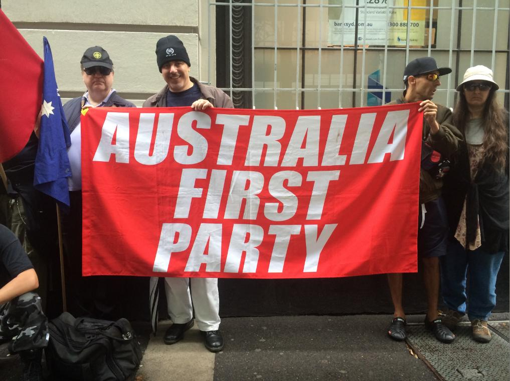 Australia First Party protest