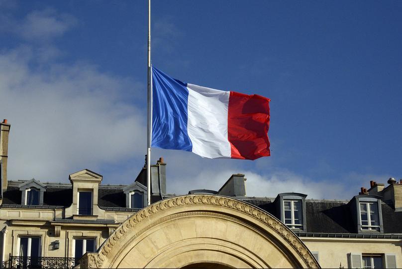 The Tricolore at half mast en Paris