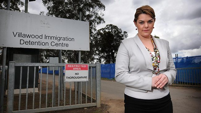 Sarah Hanson-Young at Villawood Detention Centre