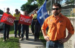 Australian CFMEU workers had enough of Scabs