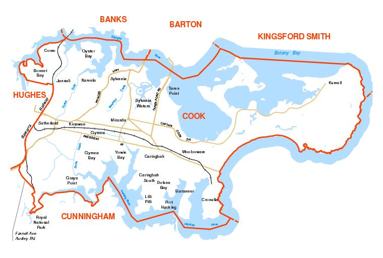 Seat of Cook Map