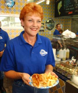 Pauline Hanson Fish and Chips