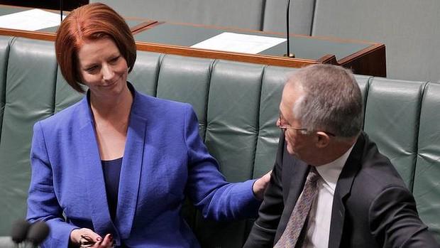 Malcolm Turnbull and Julia Gillard