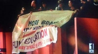 ABC QandA student protest