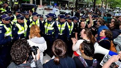 National Union of Students violent protest in Melbourne