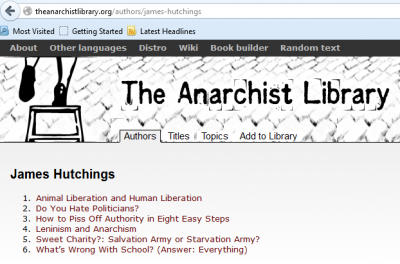 James Hutchings Anarchist Library
