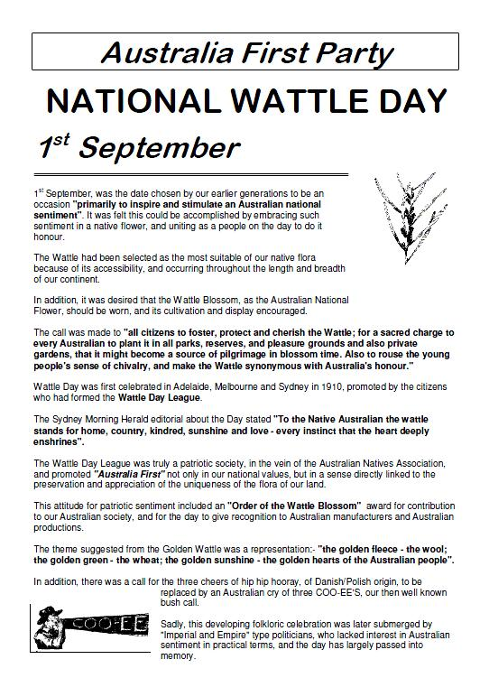 National Wattle Day 2