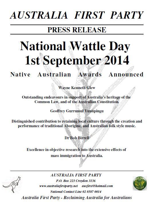 Wattle Day 2014 Awards