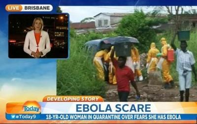 Black Ebola Migrant in Australia