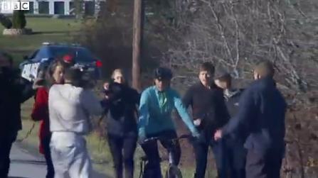 Ebola Nurse Kaci Hickox goes on bike ride