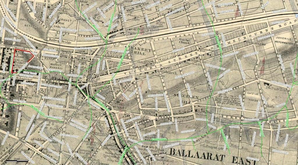 Ballaarat East Map 1861