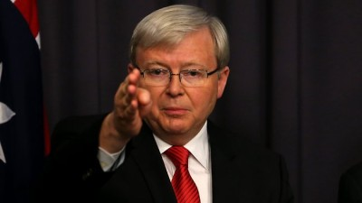 Red Tie Kevin Rudd