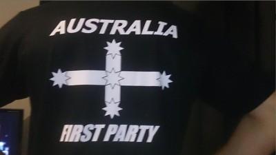 AFP T-shirt back