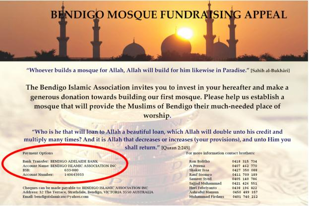 Bendigo Mosque Fundraising Appeal