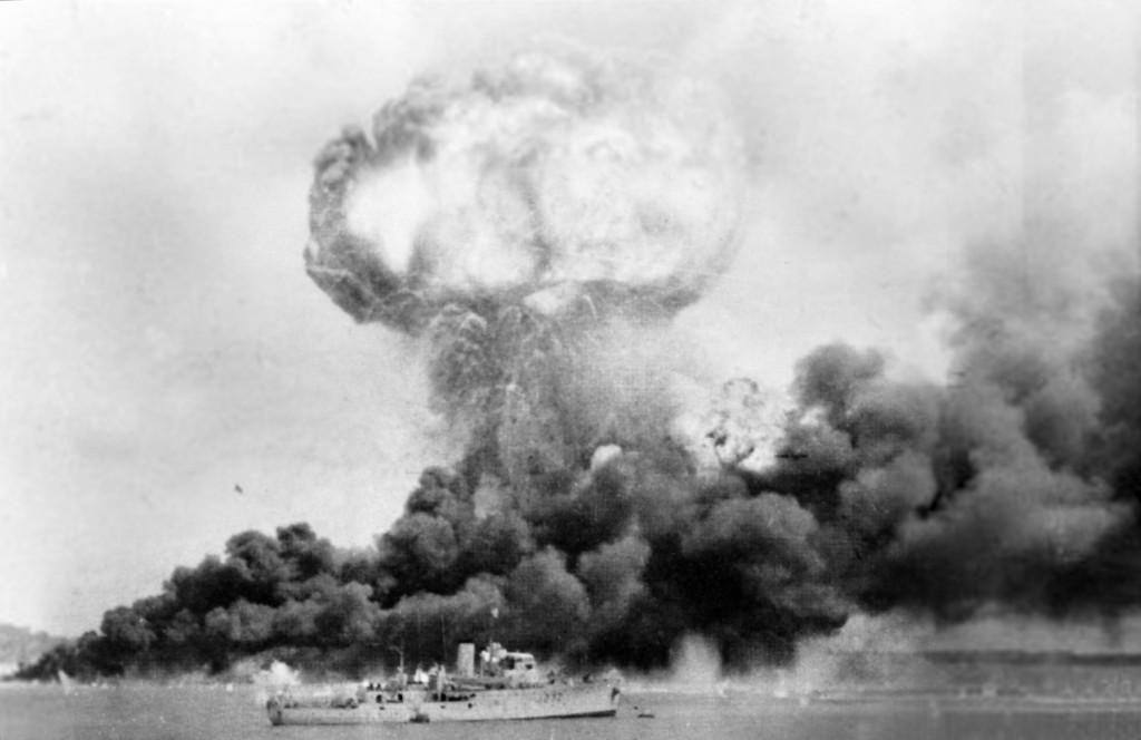 Japanese Bomb Darwin in 1942