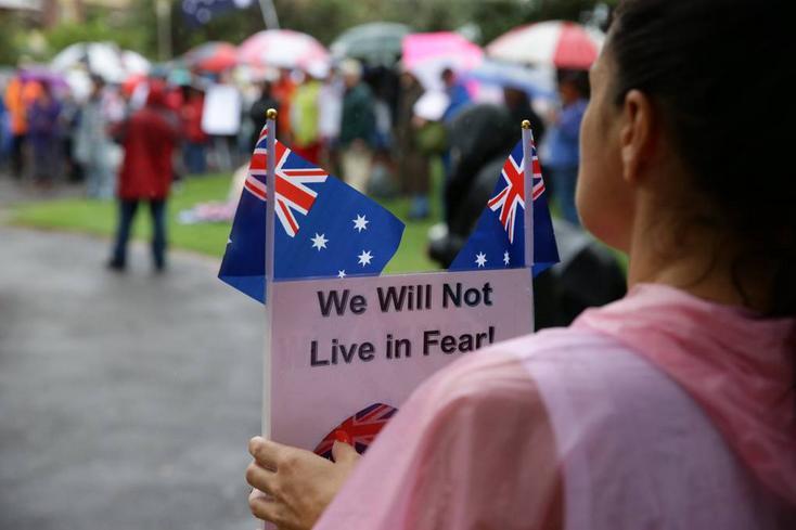 Australians will not live in fear