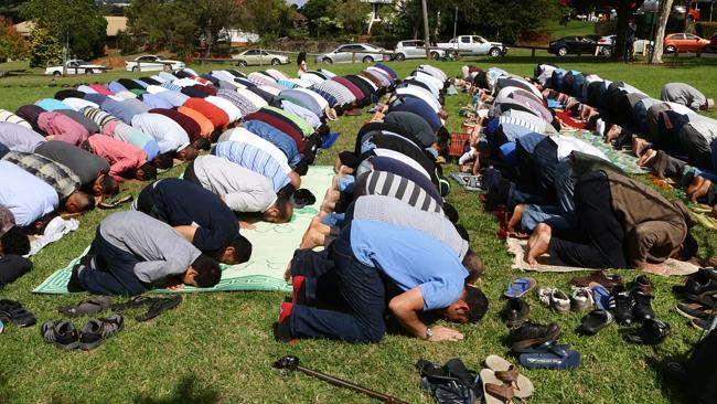 Muslims pray in Toowoomba Park after mosque destroyed