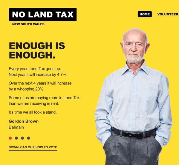 No Land Tax Volunteer