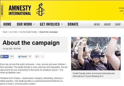 Amnesty International Campaign