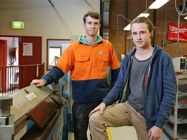 Mt Druitt TAFE students Nathan Bedworth and Luke