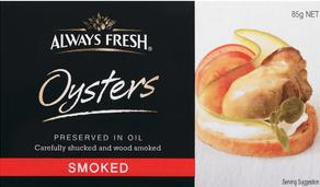 Always Fresh Smoked Oysters