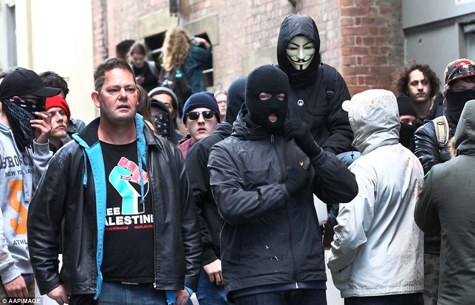 Black Bloc Leftists co-ordinated by Stephen Jolly