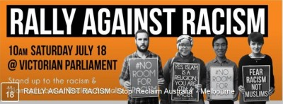 Protest Banner 'Rally Against Racism'