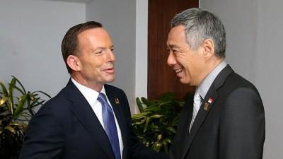 Tony Abbott strengthening free trade with Singapore at Australian expense