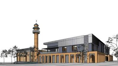 Bendigo Mosque with minaret