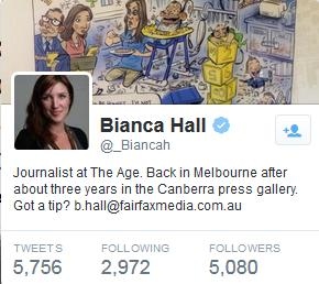 Bianca Hall at Fairfax Leftist Media
