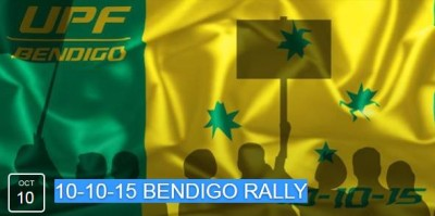 Bendigo Rally Against Islamic Mosque Oct 10, 2015