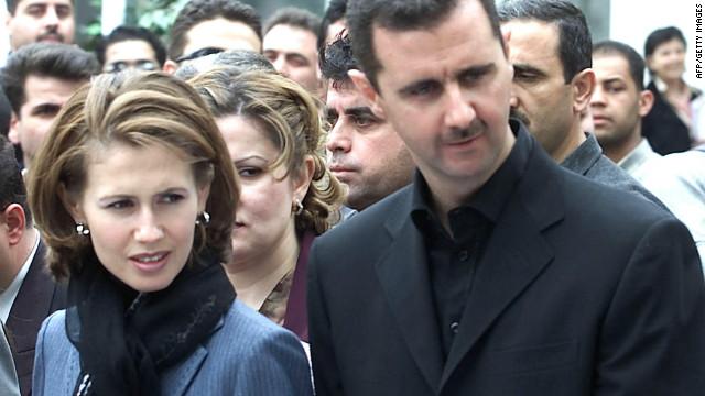 President Bashar al-Assad with his wife first lady Asma al-Assad