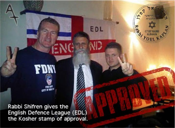 Rabbi Shrifren infitrating English Defence League