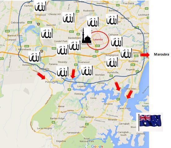 Cronulla Riots Map