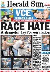 Herald Sun brands White Australians racist