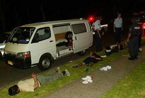 Leb gangs arrested heading to Cronulla