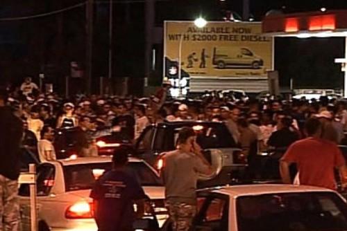 Lebanese gangs gather outside Lakemba Mosque