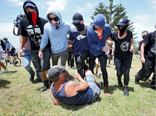 Socialist Alternative types stomp on an Aussie