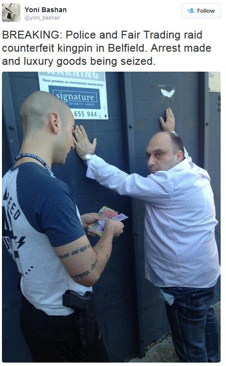 Yoni Bashan arresting Arabs in Israel
