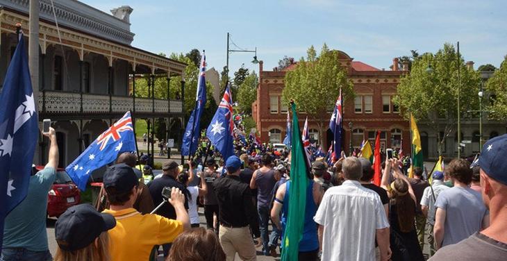 Australian patriotic rally in Bendigo