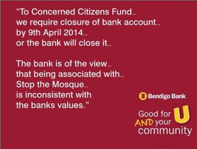 Bendigo Bank pro-Islam