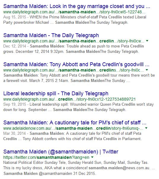 Samantha Maiden's vendetta against Peta Credlin