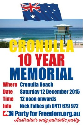 Cronulla Riots 10 Year Memorial
