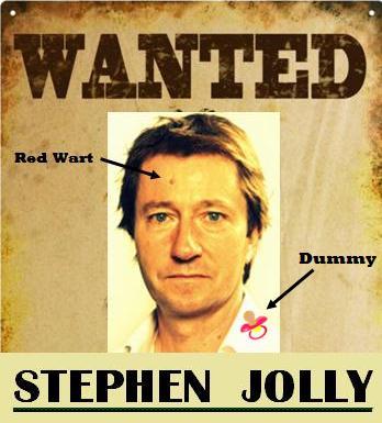 Stephen Jolly dummy spits