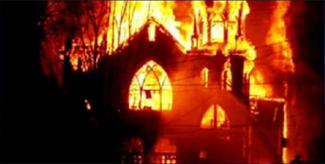 Muslims burned 71 churches in Egypt in 2013