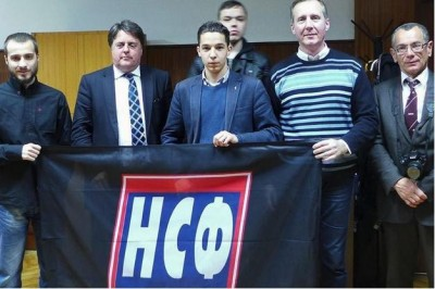 Nick Griffin meets with Serbian National Front