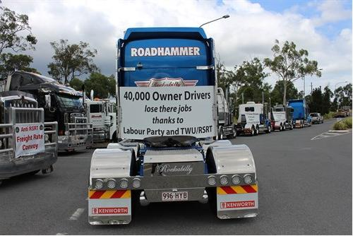 TWU driving owner-drivers broke