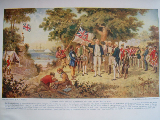 Lieutenant James Cook raises the Union Flag on Possession Island, 22 August 1770