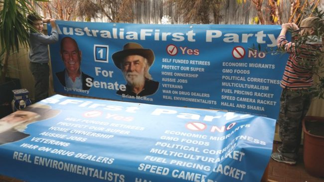 Australia First for Senate in WA