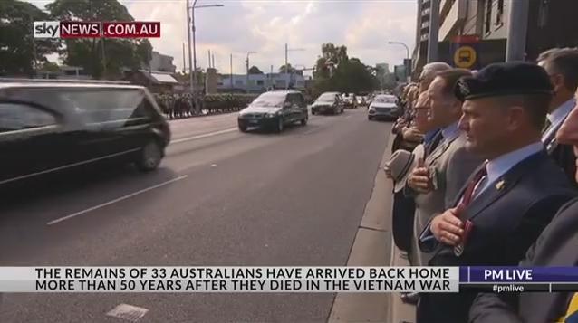 Funeral procession through Parramatta